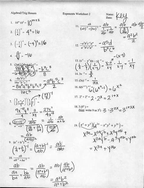 Worksheets Exponent And Radicals Online Worksheets exponents and radicals worksheet delibertad rational delibertad