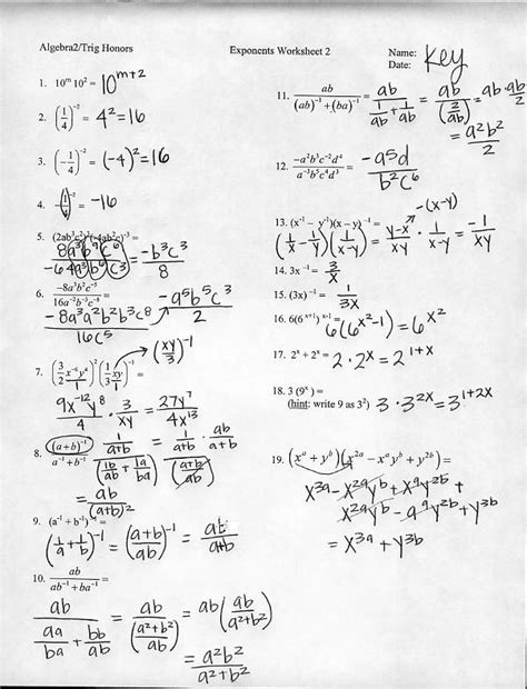 images  rational exponents worksheets