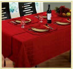 jacquard dining tablecloths round oblong square christmas red colour