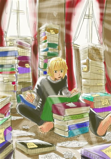 Anime Studying Wallpaper - mello is studying by anime 2000 on deviantart