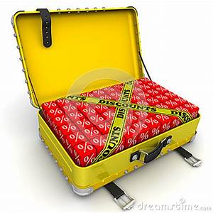 Open Suitcase Full Of Discounts. Financial Concept Stock ...