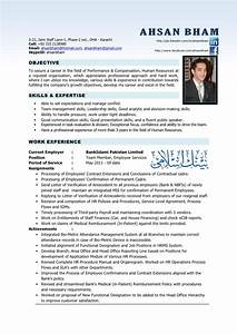 resume hr professional With hr cv