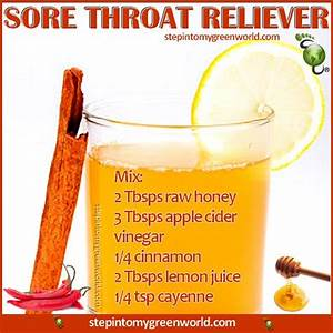 How to clear sore throat using Apple Cider Vinegar ...
