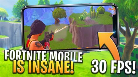 fortnite mobile gameplay  fps  good graphics ios