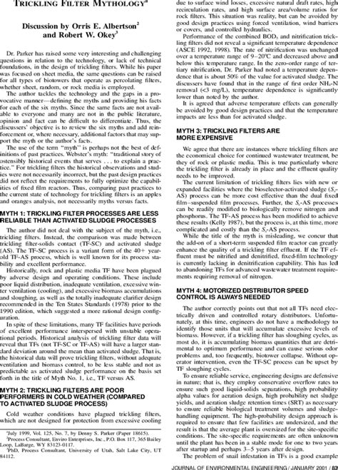 Trickling Filter Mythology   Journal of Environmental