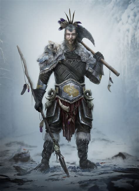 ArtStation - Tribal Viking Warrior Concept: Tribe of ...