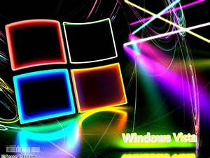 Neon Vista Windows & Technology Background Wallpapers on