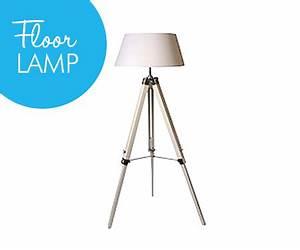 white wood tripod floor lamp shade With tripod floor lamp with white pleated shade