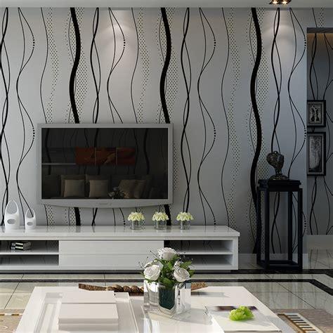 solde hotte cuisine papier peint murale mur 3d courbe stripe tissu non tissé