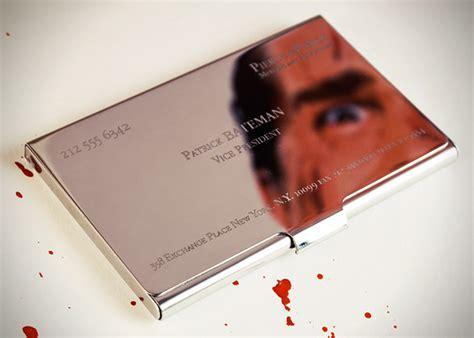 American Psycho Patrick Bateman Business Card Holder Business Cards Printing Guildford Las Vegas Card Ahmedabad Print Dimensions Template Online Oahu Quality Plan Sample Spa