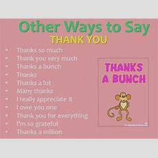 "English Without Tears Other Ways To Say ""thank You"" And How To Respond"