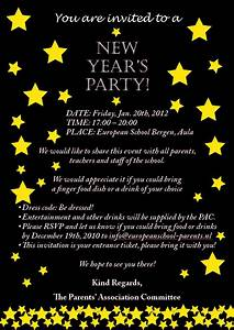 9 best images of new year s eve invitation wording new for New year party invitation letter