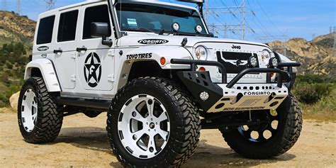 power wheels jeep white white jeep wrangler with forgiatos and 37 inch mud tires