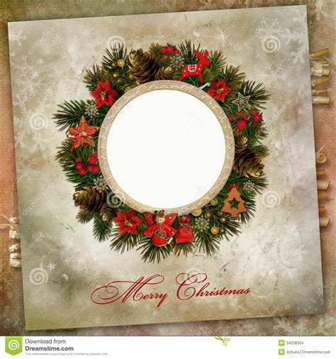 christmas wreath  decoration   vintage background