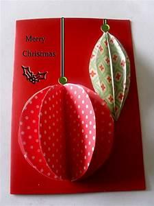 Easiest, 3d, Ornaments, Christmas, Card