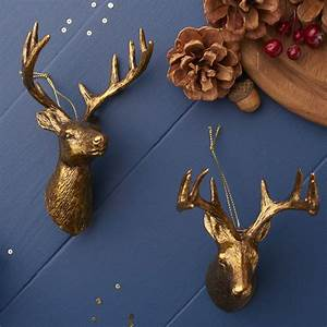 Gold, Reindeer, Christmas, Decoration, By, The, Christmas, Home