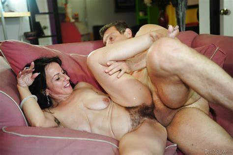 Beautiful Couch Penetrated With Old Women Bride