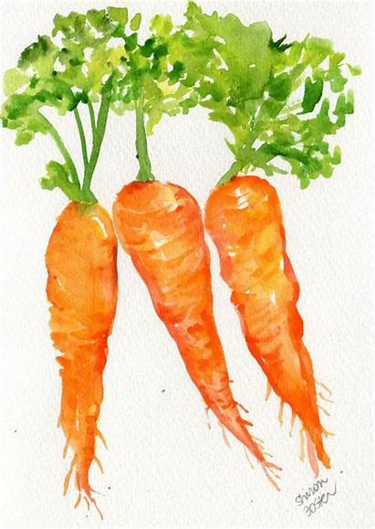 Watercolor Vegetables Carrot Fruit Clipart Vegetable Painting