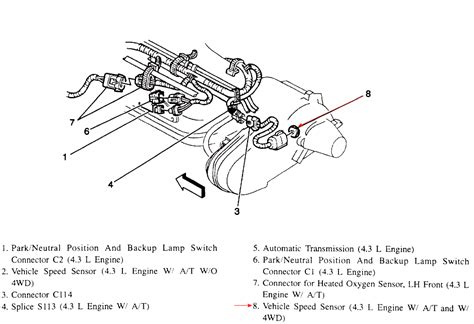92 Chevy 1500 Transmission Diagram by Where Is The Vehicle Speed Sensor Located On A 96 Chevy