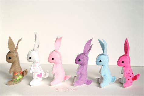Mini Felt Stuffed Bunny Rabbit Made To Order Custom Felt