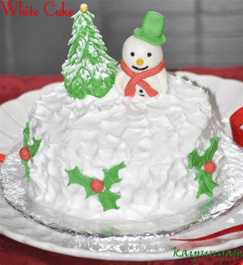 cake for christmas kaipunyam com white cake for christmas