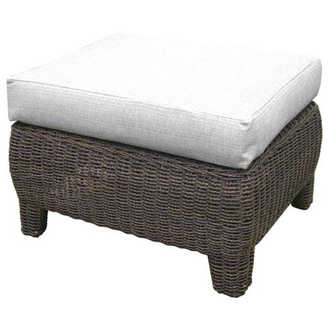 outdoor bay harbor wicker lounge chair and ottoman set