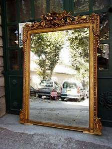 Miroir Doré Rectangulaire : grand miroir napol on iii en bois et stuc dor xixe si cle ~ Teatrodelosmanantiales.com Idées de Décoration