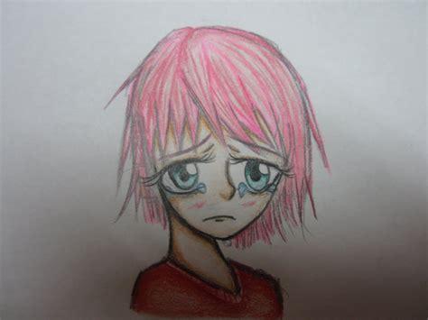 anime girl sad expression  midnightshadowgirl