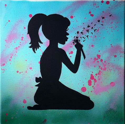 Hand Crafted Silhouette Painting On Canvas by Christina