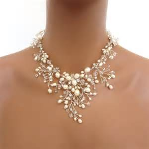 bridesmaid jewelry sets 20 bridal freshwater pearl necklace set wedding jewelry set swarovski necklace and
