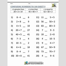 Greater Than Less Than Worksheet  Comparing Numbers To 100