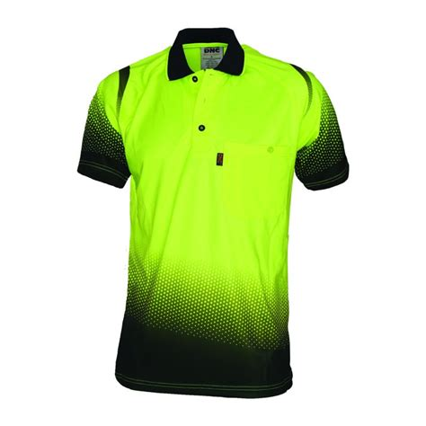 175gsm HiVis Cool-Breathe Hivis Sublimated Ocean Polo - 3568 | Workwear Clothing Online (The #1 ...