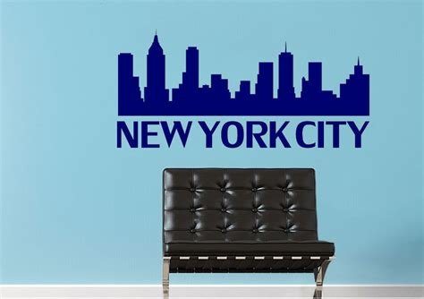 york city logo architecture wall stickers adhesive