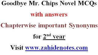 goodbye  chips  mcqs   year zahid notes