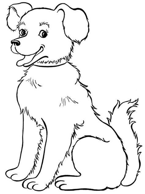 easy cartoon dog sitting  drawings