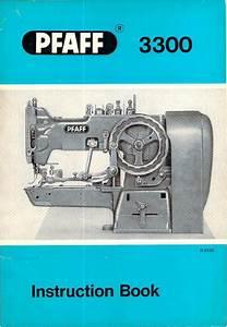 Pfaff 3300 Industrial Sewing Machine Instruction Manual