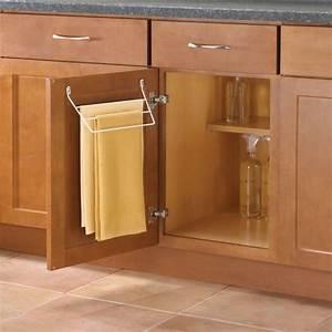 Knape & Vogt Door Mount Towel Rack for Kitchen or Bathroom