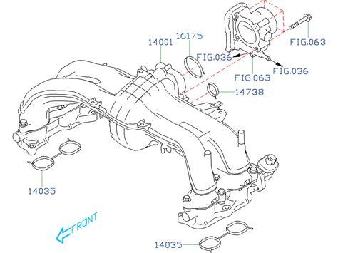 Subaru Intake Manifold Diagram by 14035aa620 Gasket Intake Manifold Throttle