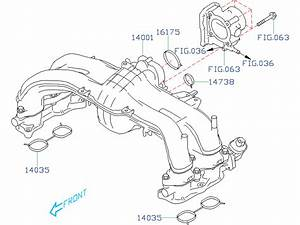 14035aa620 - Gasket-intake Manifold  Body  Throttle  Engine  Cooling