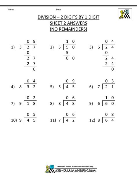 division worksheets  grade