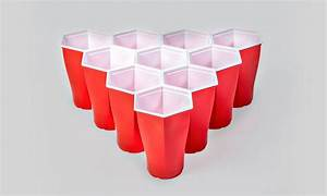 Hexagonal Beer Pong Cups | Cool Material