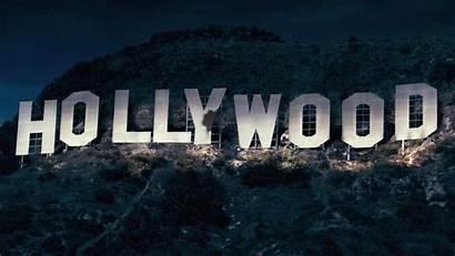 Hollywood Away Got Sign Cartoon Wood