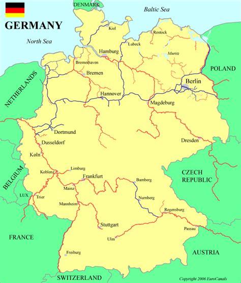 germany waterways map