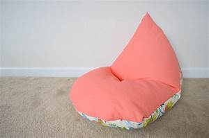 diy sew a kids bean bag chair in 30 minutes project nursery With bean bag chair for two