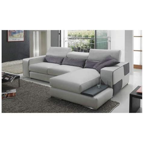 canapé 250 cm canapé d 39 angle en cuir udine achat vente canapé sofa