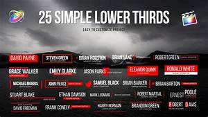final cut pro lower thirds templates - lower thirds for fcpx by whitemarker videohive