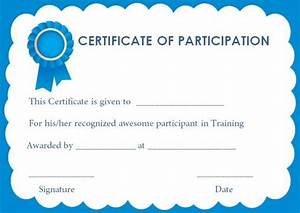 12 best training participation certificate images on pinterest With training participation certificate template