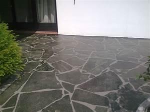 Zählt Terrasse Zur Wohnfläche : weg und terrasse mit polygonalplatten righini garten ~ Lizthompson.info Haus und Dekorationen