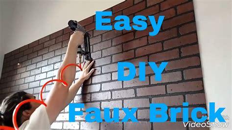 grey living room ideas a faux brick wall with brick panels diy interior