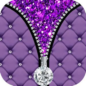 Pretty Lock Screen Wallpapers Purple Diamond Zipper Screen Android Apps On Google Play